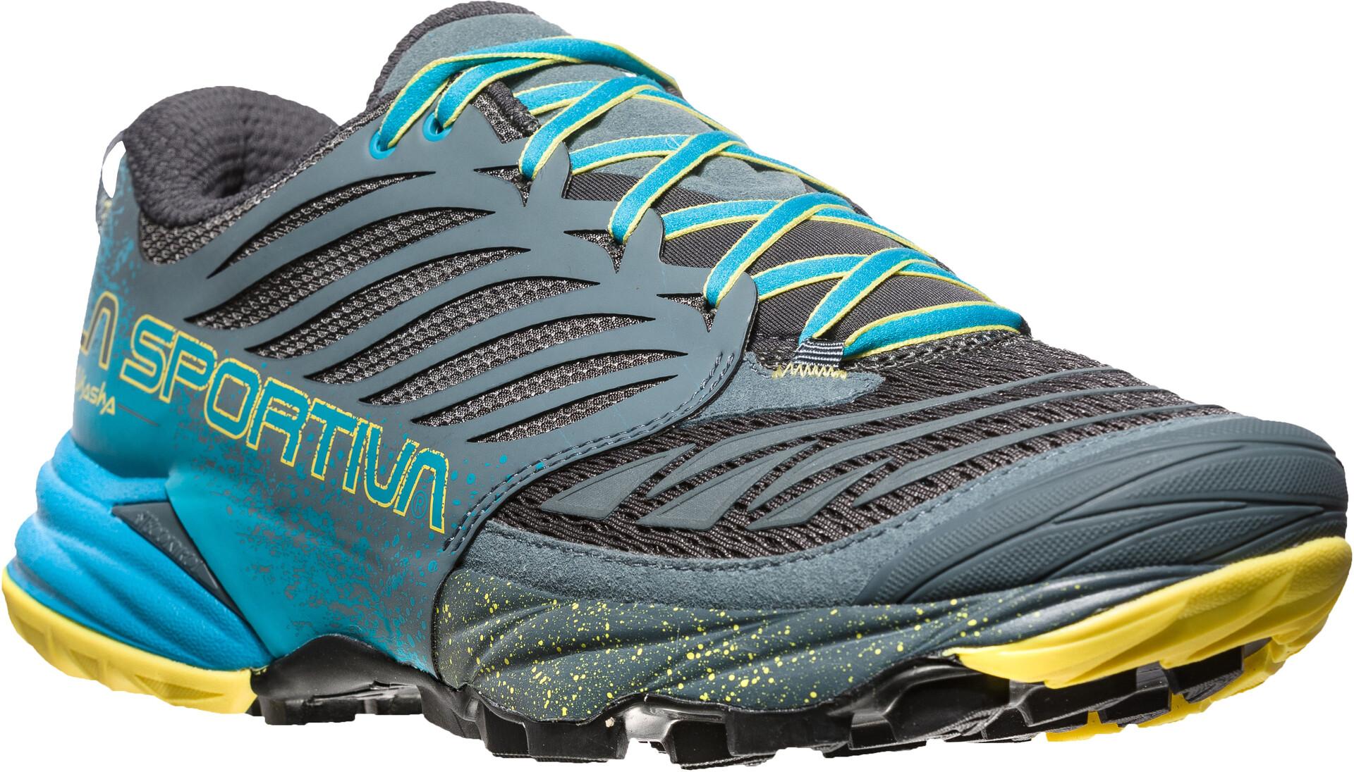 Sportiva La Running Sur Akasha Chaussures Homme Gristurquoise SzjqMUVpLG